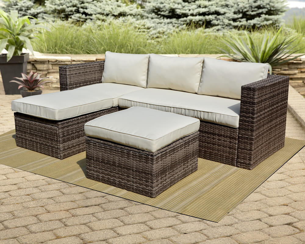 Morrocco Sectional Wicker Sofa Set